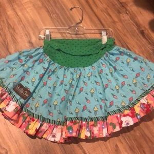 Sz4 Matilda Jane ice cream skirt VGUC